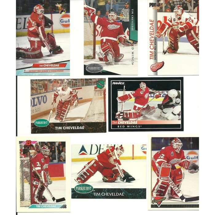 Huge 30 + Different TIM CHEVELDAE cards lot 2 RC 1990 - 1996 Red Wings Jets