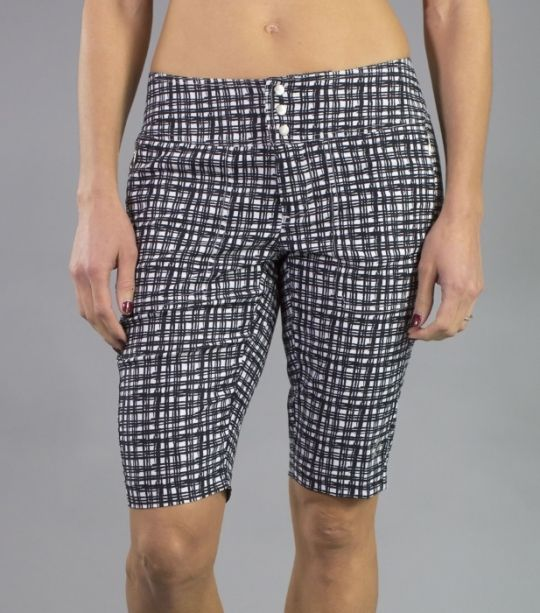 """Barossa (Wicker Print) JoFit Ladies 12"""" Inseam Bermuda Golf Shorts. Find more stylish ladies outfits for your golf and tennis games at #lorisgolfshoppe"""
