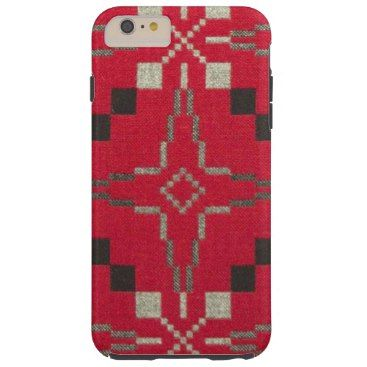 """Title : #601, Tribal, Geometric, Abstract, Red Hue Fabric Tough iPhone 6 Plus Case  Description : Tribal, Geometric, Abstract, Red Hue Fabric. Tribal-Geometric-Ethnic Patterns, include Stripes, Arrows, Triangles, Animal-Drawings, """"Woodland-Animals, Floral, Cross, Circles, Plus Signs, Broken Checks, Abstract, """"Spiritual-Inspired"""", """"Sacred-Geometric-Shapes, """"Symbolic-Shapes, Feathers, Mystique, Spirits, """"Indian-Language-Symbols"""", """"Native-American Symbols"""", """"Native-American-Pottery-Designs""""…"""