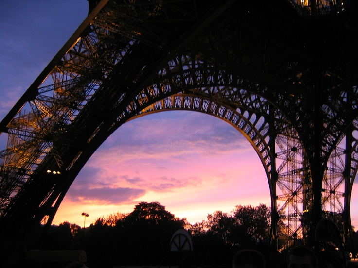 eiffel tower at sunset - 2004