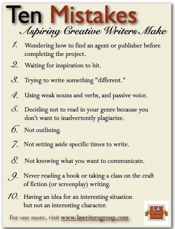 Ten writer mistakes