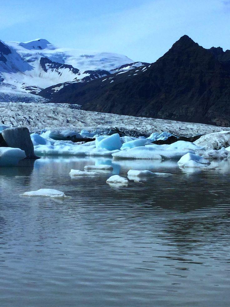 Fjallsarlon Glacial Lagoon in Iceland