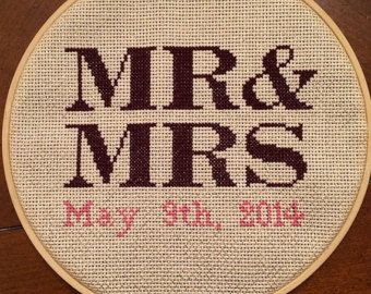 Cross Stitch Wedding Date