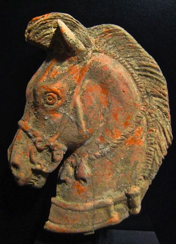 Etruscan terracotta head of a horse Circa 300 BC. www.decorarconarte.com