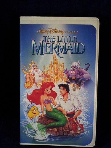 Walt disney classic little mermaid vhs movie tape w ...