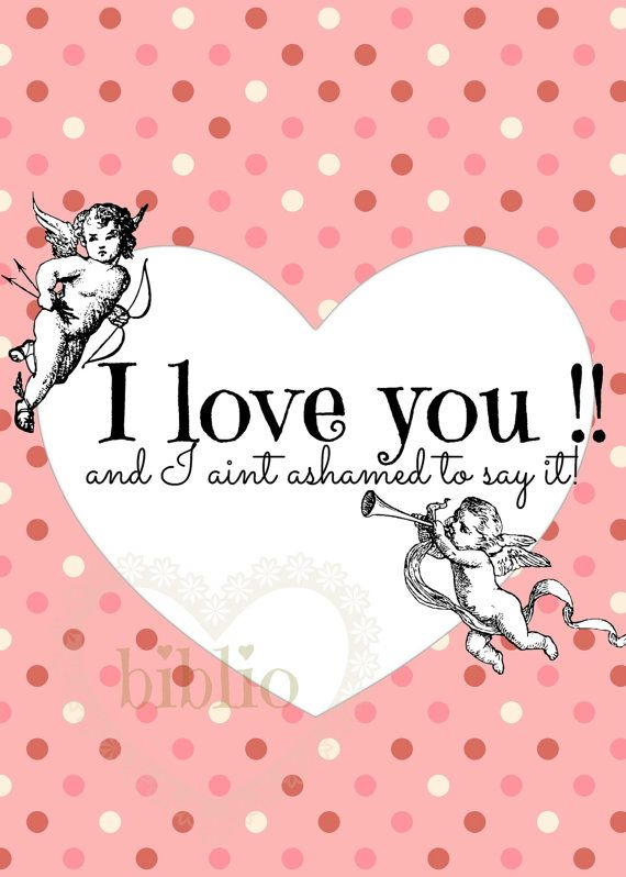 Digital LOVE card by bibliopaperartstudio on Etsy
