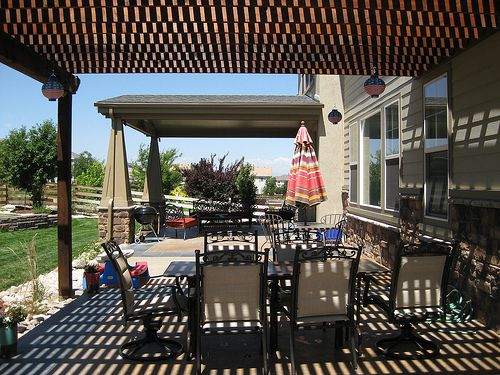 This arbor really makes some nice shade in the heat of the summer in Denver.