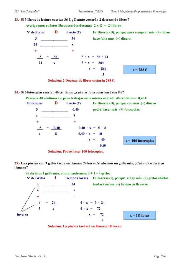 Problemas De Regla De Tres Simple Consejos Del Profesor