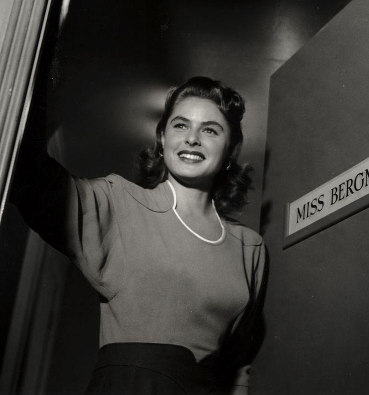 """Ingrid Bergman durante el rodaje de """"Encadenados"""", 1946"""