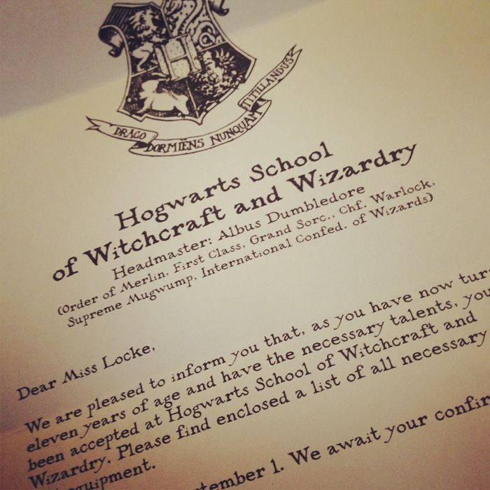 design a Harry Potter Hogwarts Personalised Acceptance
