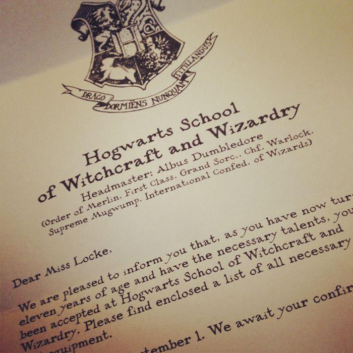 Free Downloadable Hogwarts Acceptance Letter