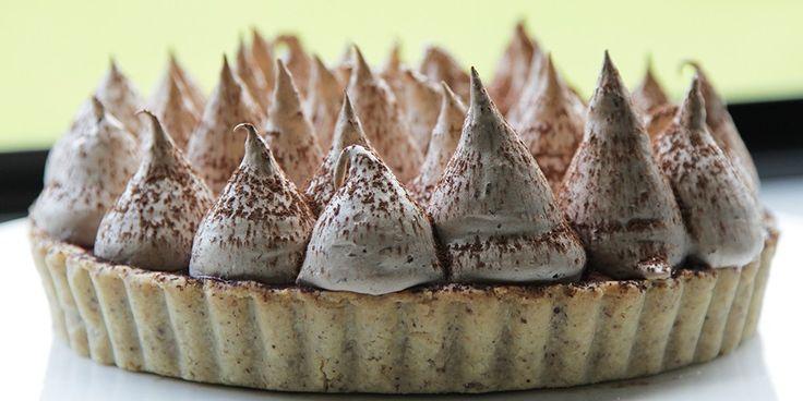 Blood Orange and Chocolate Meringue Pie