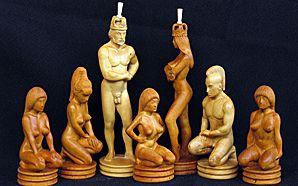 Flexible girl - Raikis Collection: скульптурные шахматы и нарды из бивня мамонта