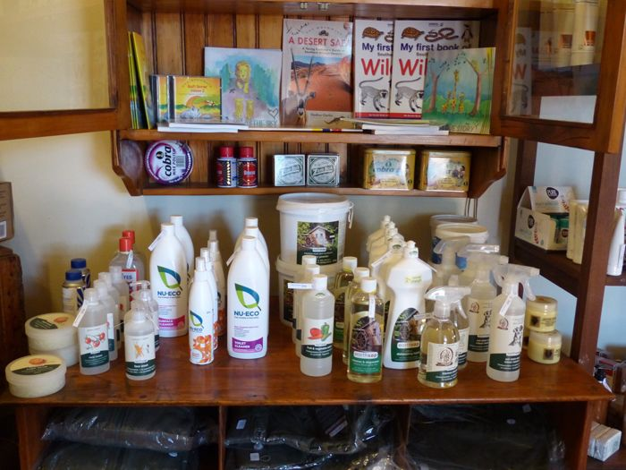 Sustainable products at a Fair Trade Tourism certified hotel in South Africa