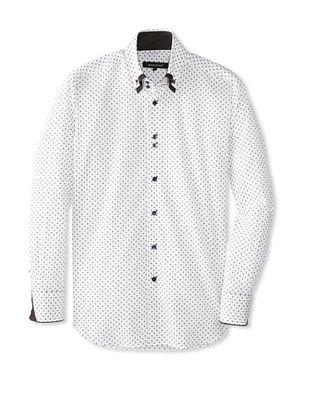 70% OFF Bogosse Men's Yunus 81 Jacquard Long Sleeve Shirt (White)