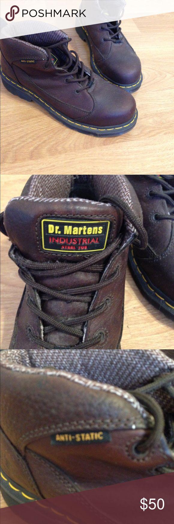 Dr Martens Steel Toe Women's Work Boots Women's leather steel toe work boots. Only worn twice. Dr. Martens Shoes Ankle Boots & Booties