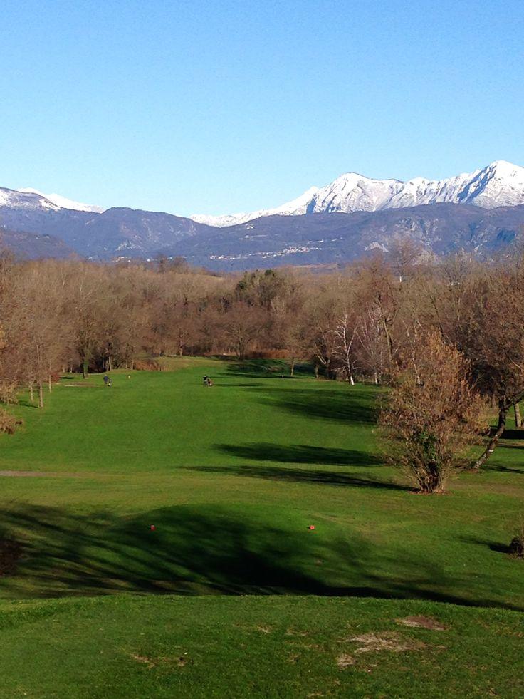 Hole 1 at the Golf Club Udine, Fagagna - Italy