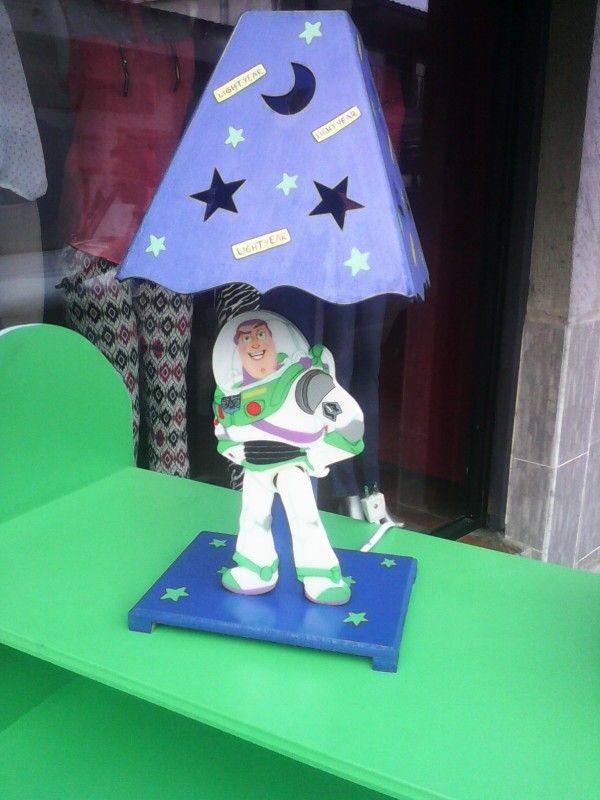 Lampara de Buzz light year en mdf, realizado por Magda Guillin Barbosa