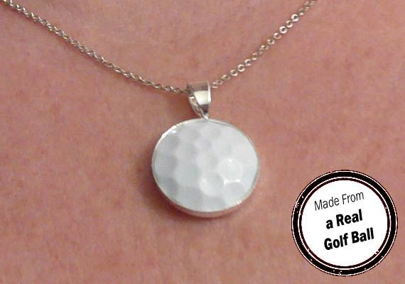 Golf Ball Necklace Pendant by SportsCufflinks, $19.99 (a favourite repin of VIP Fashion Australia www.vipfashionaustralia.com - Specialising in unique fashion, exclusive fashion, online shopping sites for clothes, online shopping of clothes, international clothing store, international clothes shop, cute dresses for cheap, trendy clothing stores, luxury purses )