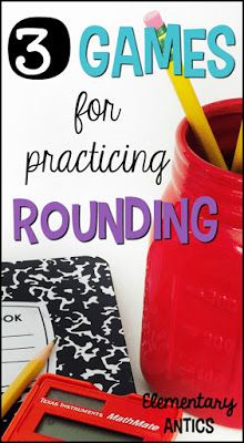 Find out three easy, hands on games for practicing rounding numbers. These games will work for rounding to the nearest ten and hundred…