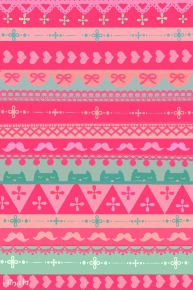 Pink Aztec Styled Pattern Mixerz Wallpaperz Artz Pinterest