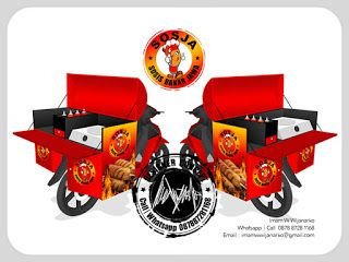 Desain Logo | Logo Kuliner |  Desain Gerobak | Jasa Desain dan Produksi Gerobak | Branding: Desain Gerobak Motor Sosja