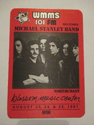 1981 Michael Stanley Band Radio Promo Backstage Pass Blossom Music Center, 2016 Amazon Top Rated Backstage Passes #Collectibles