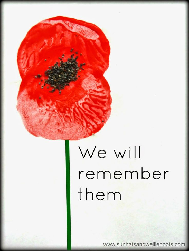 Poppy Prints with poppy seeds for Remembrance