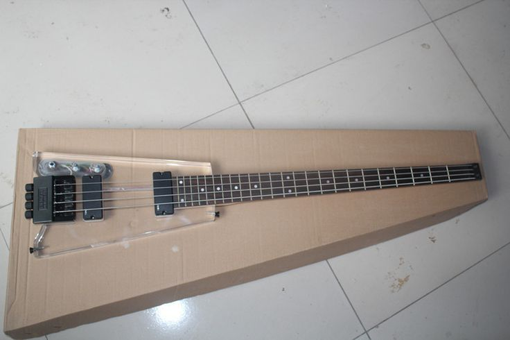 2015 New + Factory + left handed Acrylic headless electric bass guitar lefty Acrylic bass ( can use blue acrylic too )
