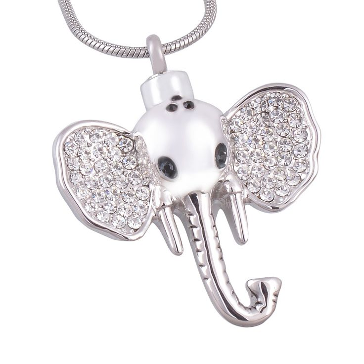 Pet Cremation Pendant Elephant Necklace For Memory Dogs or Cat Stainless Steel Cremation Jewelry
