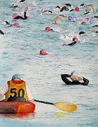By Tanya Petruk - Water Hazard, watercolour on paper, 2013, 11X14, $395.00