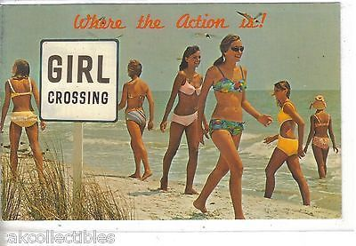 """Where the Action Is""-Girls in Bikinis on Beach 1975"