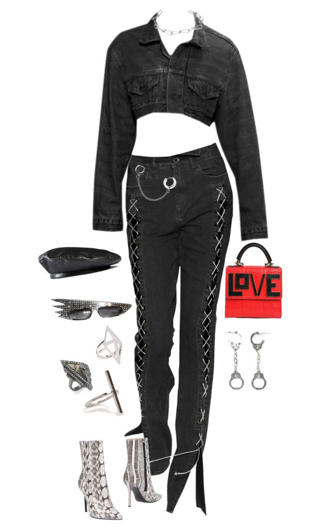"""""""Untitled #353"""" by bfvshionkilla ❤ liked on Polyvore featuring Annelise Michelson, Gucci, Noir Jewelry, Alexis Bittar, Ileana Makri, Fad Treasures, Les Petits Joueurs and Aperlaï"""
