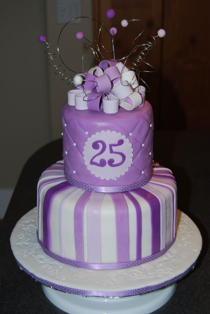 I am 25 today!  Happy Birthday to me!  12/31 NYE baby!Pretty Cake, 25Th Birthday Cake, 16Th Birthday, Cake Ideas, Cake Decor, 25 Cake, Purple Cake, 30Th Birthday, Birthday Cakes
