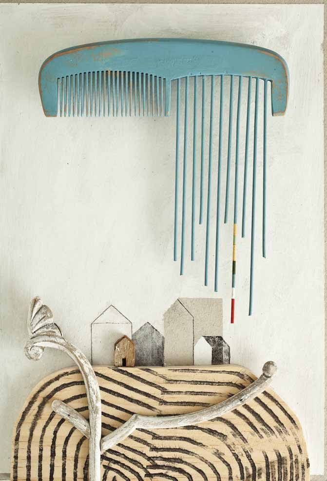 Isidro Ferrer - a fun way to make an image using found materials. Harmony of colour and a 'balanced' yet asymmetrical composition - a bit of a contradiction but you know what I mean : )