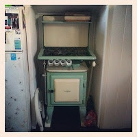 Mother Down Under: My kitchen...yes I cook on that Early Kooka stove!