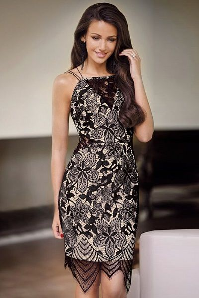 All Over Lace Cami Bodycon Dress