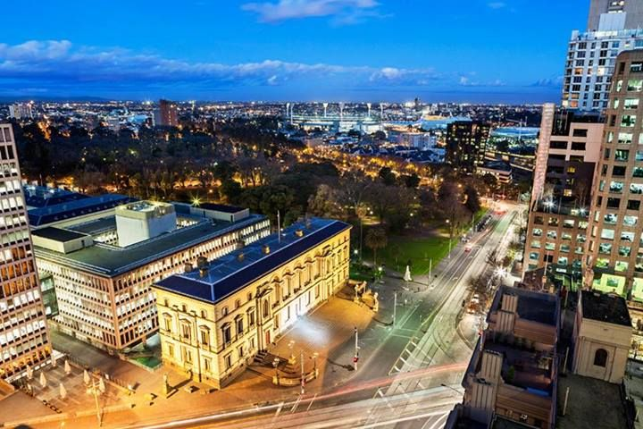 Melbourne at night is beautiful!