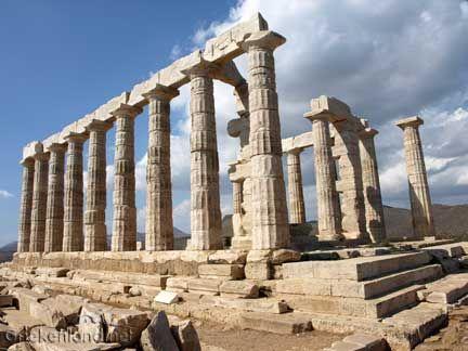 Prachtige tempel van Sounio in het zuiden van Attica. Nice temple of Sounio in the south of Attica in Greece.