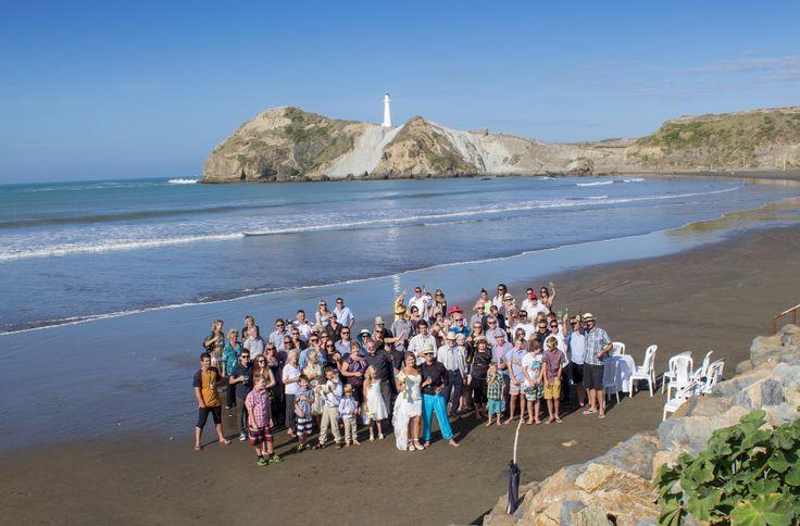 Melissa  Jason at Castlepoint Beach Wedding