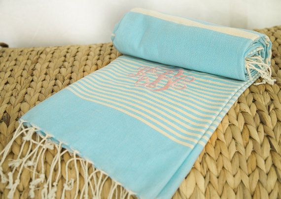 Hey, I found this really awesome Etsy listing at https://www.etsy.com/listing/469553200/monogrammed-turkish-beach-towelturkish