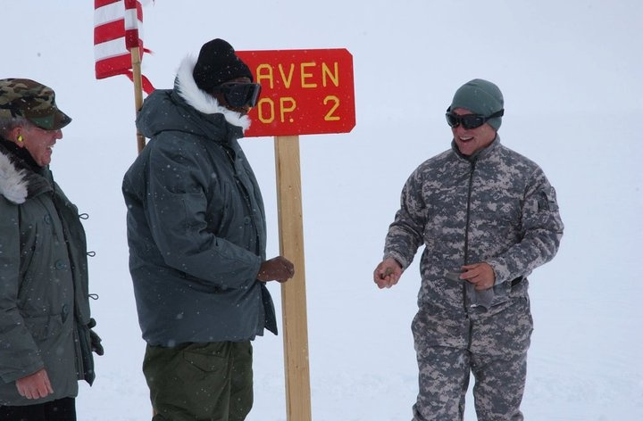 Advancer V-12's in polar circumstances...thanks for your service, David Hudson!