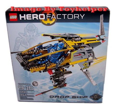 Lego 7160 Bionicle Hero Factory Drop Ship 394 pcs NIB Sealed Bionicle Helocopter #LEGO