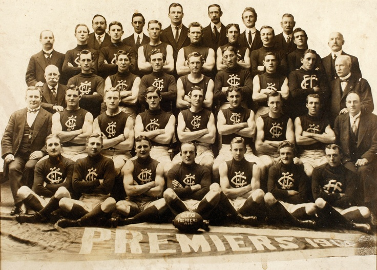 1914 Grand Final: Carlton 6.9.45 def South Melbourne 4.15.39.