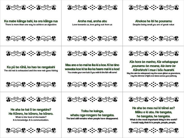 Maori Proverbs #freeposter by planeta, via Flickr