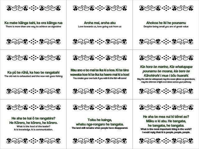 Maori Proverbs #freeposter by planeta, via Flickr