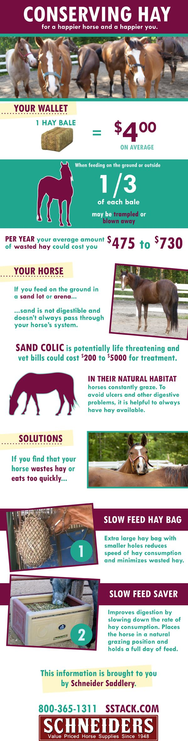 Conserving hay. Products we offer that can help you save!