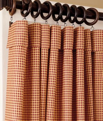 Red Curtains, Red Curtain, Red Kitchen Curtains, Red Window Curtains    Country Curtains
