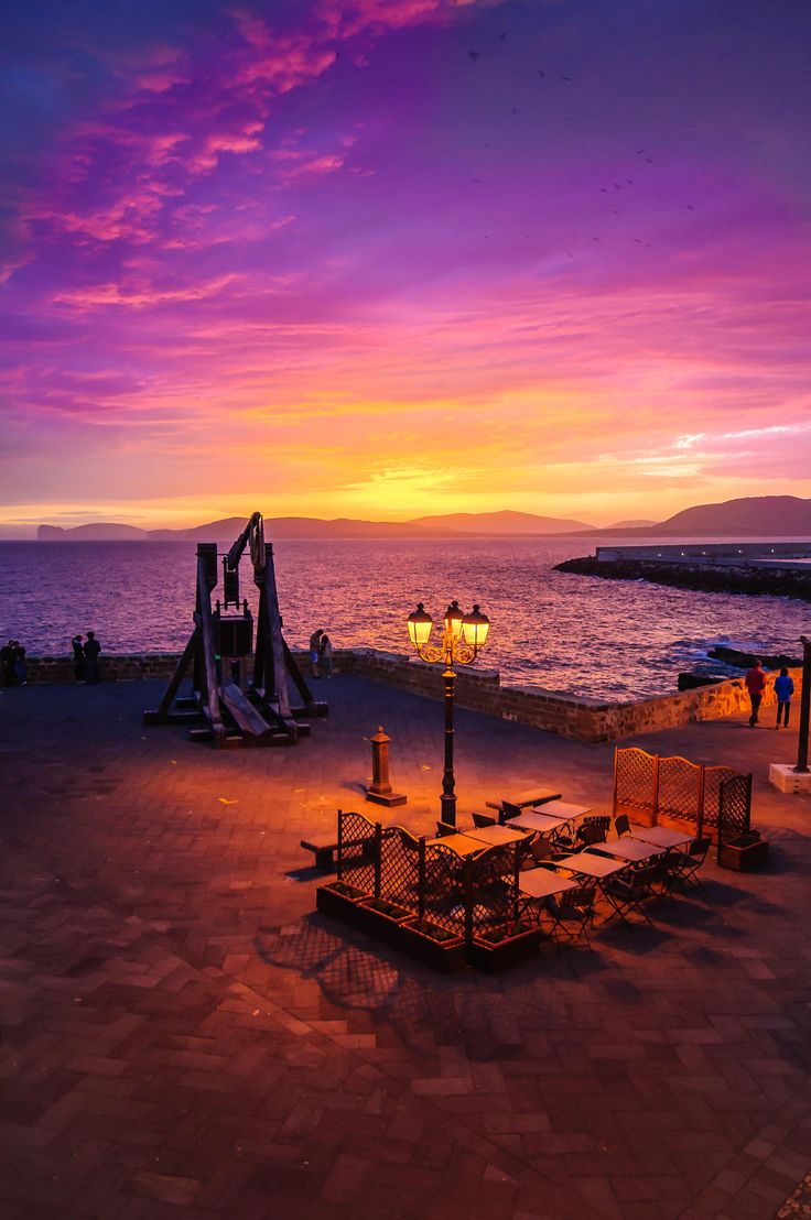 Sunset at Alghero, Sardinia, Italy