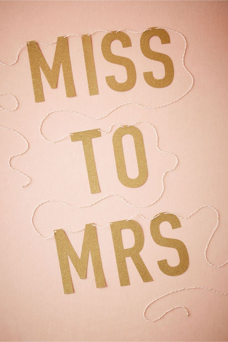 perfect accessory to a bachelorette or bridal party | Miss to Mrs. Banner from BHLDN